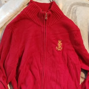 Ralph Lauren Red Zip sweater